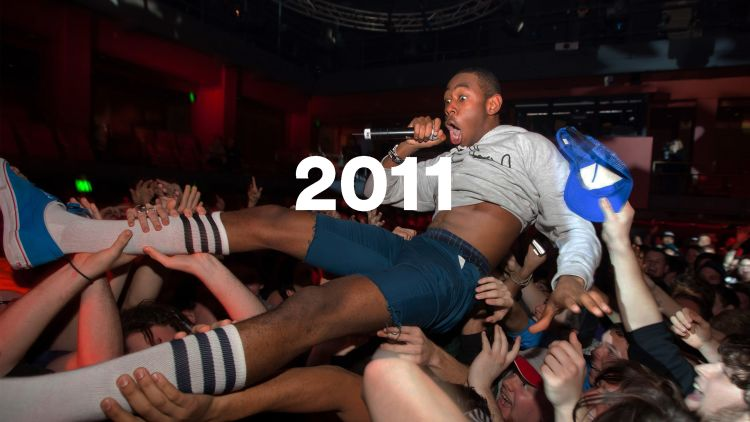 Tyler, the Creator of OFWGKTA crowdsurfing. Photo: Daniel Boud